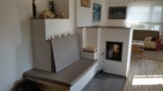 Malá kamna s vyhřívanou lavicí